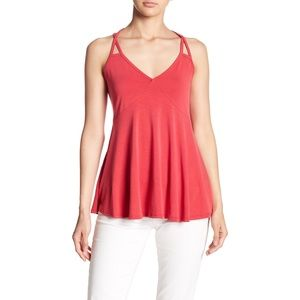 RO & DE SLUB RED CAMI TANK TOP
